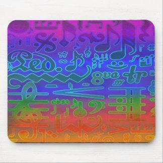 Cores de símbolos de música Mousepad