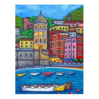 Cores de Vernazza, cartão de Cinque Terre