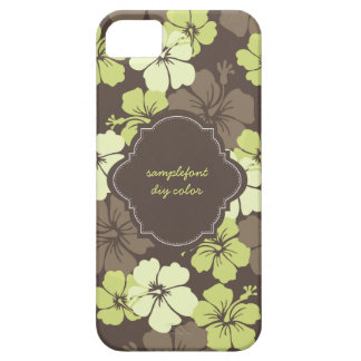 Cores diy do fundo de PixDezines/hibiscus verde Capas Para iPhone 5