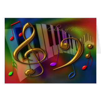 cores do cartão da música