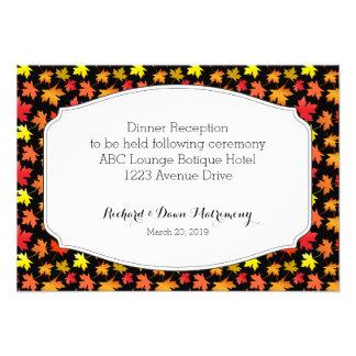 Cores do cartão da recepção do casamento do outono convite personalizado