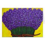 Cores do cartão de nota de Provence (colheita flor