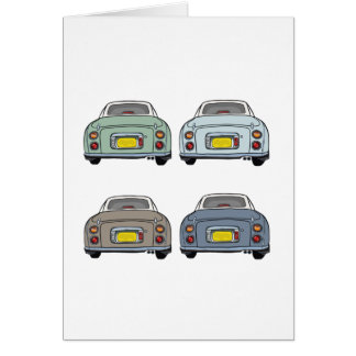 Cores do cartão do vazio do carro de Nissan Figaro