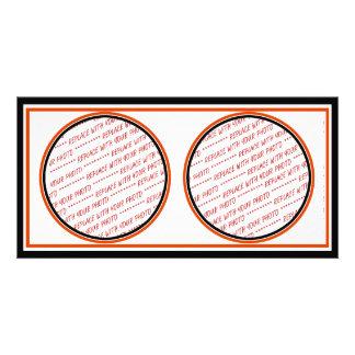 (Cores do Dia das Bruxas) modelo aparado alaranjad Cartoes Com Foto Personalizados