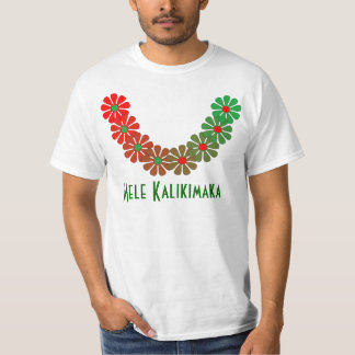 Cores do Feliz Natal de Mele Kalikimaka dos leus Tshirts