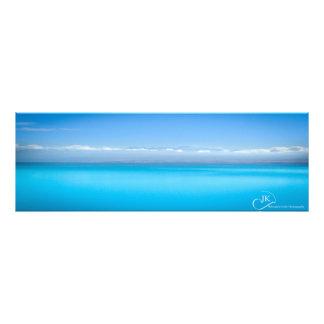Cores do lago Pukaki Nova Zelândia: Poster Impressão De Foto