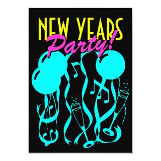 Cores do néon dos convites de festas | da véspera