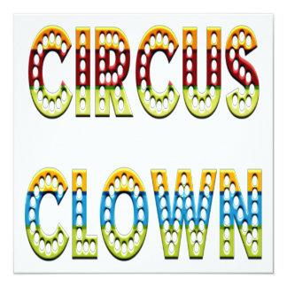 Cores do palhaço de circo convite quadrado 13.35 x 13.35cm