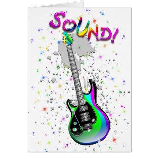 Cores do som da guitarra elétrica cartao