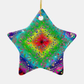 Cores e cristal de Psychedeli Ornamento De Cerâmica