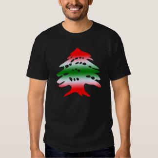 Cores e símbolo da bandeira de Líbano Camisetas