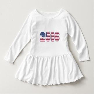 Cores EUA da bandeira americana do feliz ano novo T-shirts