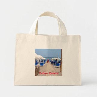 Cores mediterrâneas bolsa tote mini