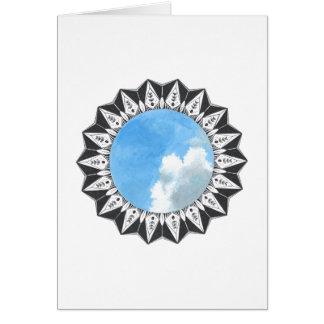 Cores no céu cartão comemorativo