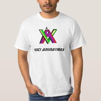 Cores novas das animações de Vinci Tshirts