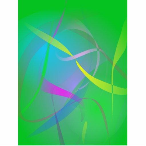 Cores obscuras do abstrato do verde da névoa da ma foto escultura
