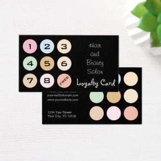cores pastel finas modernas - cartão da lealdade
