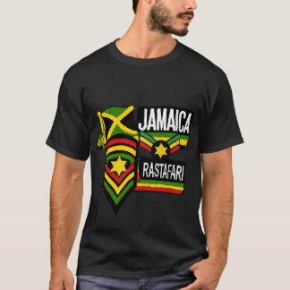 Cores pretas de Rastafarian do t-shirt de Rasta da Camiseta