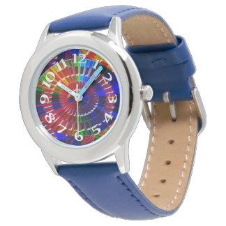 Cores prismáticos relógio