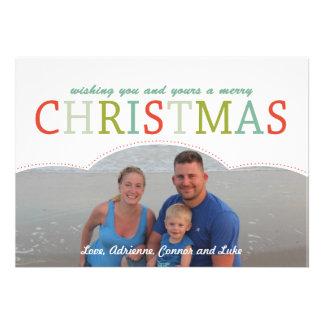 Cores simples da modificação do cartão de Natal da Convites Personalizados