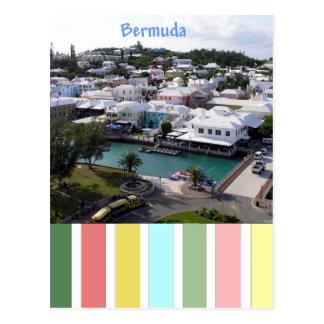 Cores tropicais de Bermuda Cartão Postal