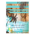 Cores tropicais do grunge/praia theme/DIY de Convite 12.7 X 17.78cm