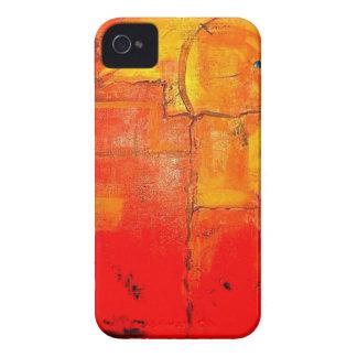 Cores vibrantes da pintura original abstrata da capa para iPhone 4 Case-Mate