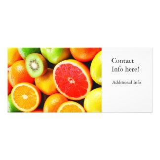 Cores vibrantes dos citrinos 10.16 x 22.86cm panfleto