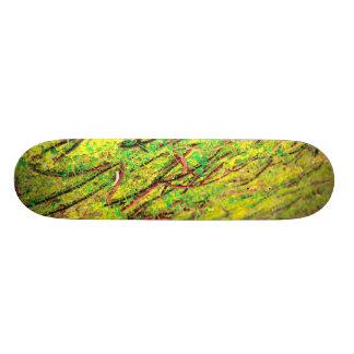 Cores vívidas naturais shape de skate 20cm