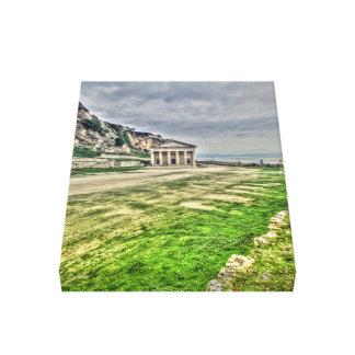 Corfu, piscina impressão em tela