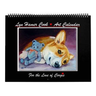 Corgi do amor do calendário do Corgi de Galês do