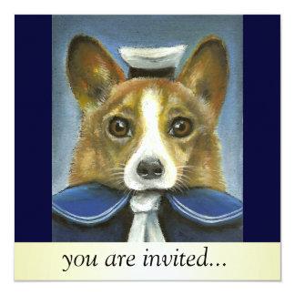 corgi o marinheiro convite personalizados
