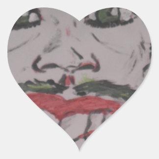 coringa desenho adesivo coração