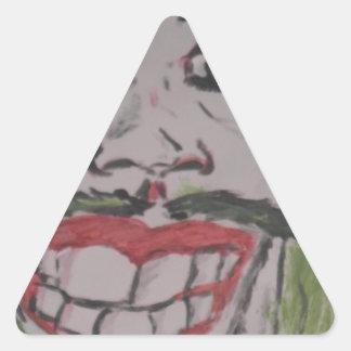 coringa desenho adesivo triangular