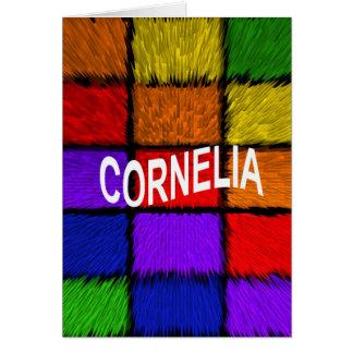 CORNELIA CARTÃO COMEMORATIVO