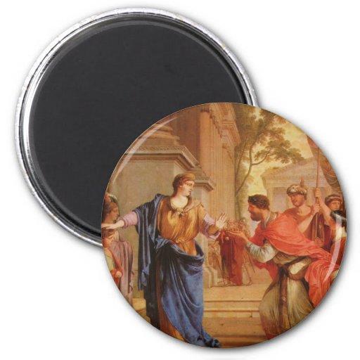 Cornelia tem a coroa da parte traseira Ptolemaic d Imã De Geladeira