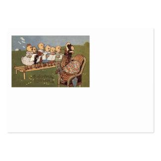 Coro da galinha do pintinho da páscoa cartões de visitas