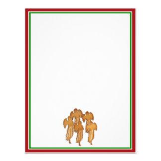 Coro do biscoito do anjo modelo de panfleto