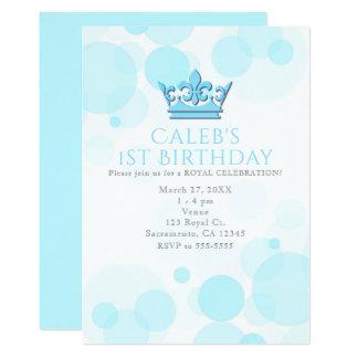 Coroa azul & convites de festas de aniversários
