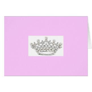 Coroa clássica Notecards Cartão Comemorativo