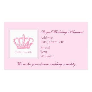 Coroa cor-de-rosa bonito cartão de visita