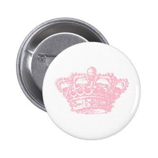 Coroa cor-de-rosa bóton redondo 5.08cm