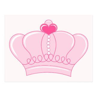 Coroa cor-de-rosa com coração cartao postal
