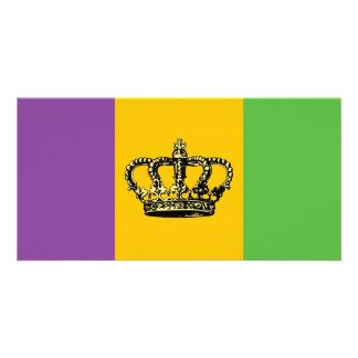 Coroa da bandeira do carnaval cartão com foto
