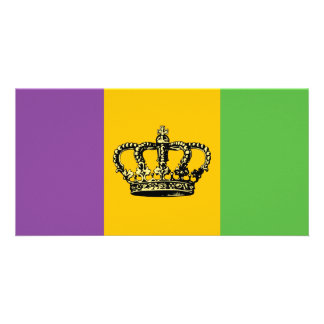 Coroa da bandeira do carnaval cartões com foto