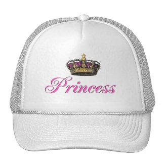 Coroa da princesa no rosa quente boné
