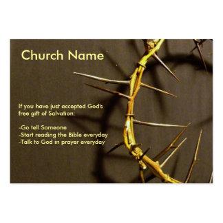 Coroa do intervalo dos espinhos cartão de visita