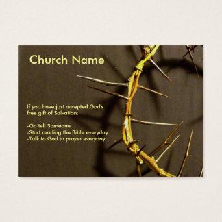 Coroa do intervalo dos espinhos cartão de visitas