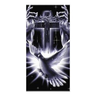 Coroa do Jesus Cristo de espinhos e de pomba Cartão Com Foto
