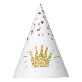Coroa do ouro do rosa do chapéu do papel da